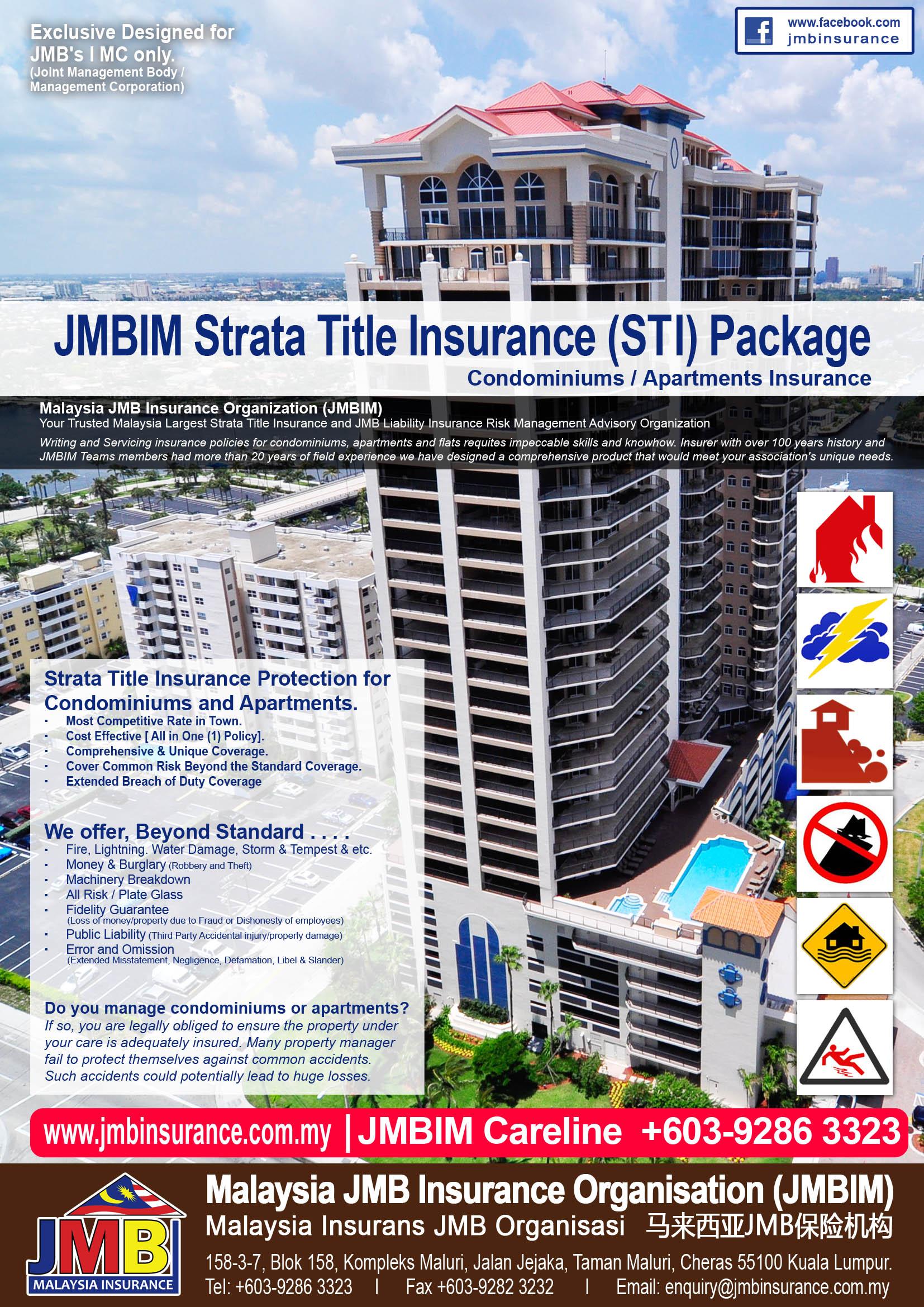 Malaysia Strata Title Insurance and JMB Liability Insurance Plan